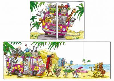 """Carte postale Cache-cache """"Les vacances"""""""
