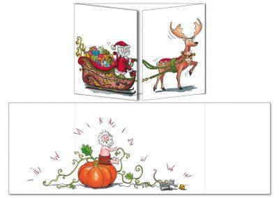 """Carte postale Cache-cache """"Le Père Noël Cendrillon"""""""