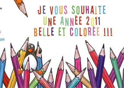 """Carte de vœux """"Les crayons de couleurs"""""""
