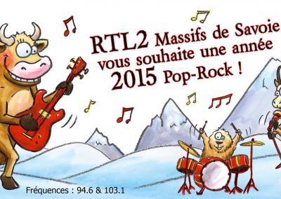 "Carte de vœux Pop-Rock des montagnes ""Radio RTL2"""
