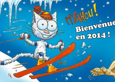 "Carte de vœux ""Les petits chats"""