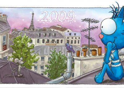 """Carte de vœux """"Le chat Rabia"""""""