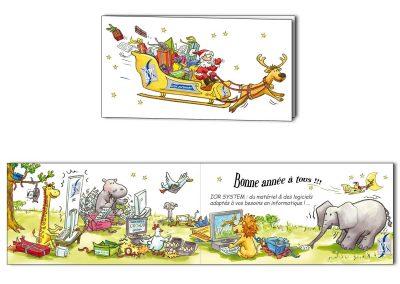 """Carte de vœux """"Matériel informatique"""""""