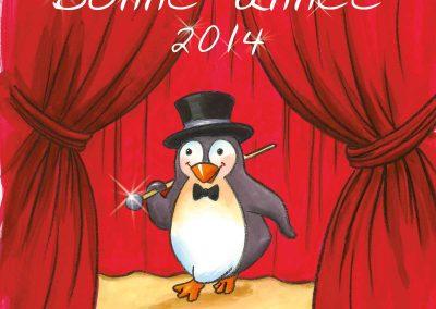 """Carte de vœux """"Le pingouin cabaret"""""""