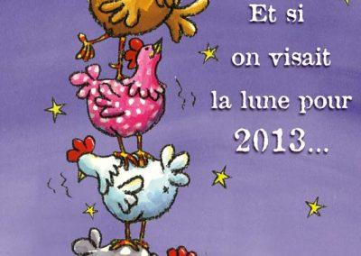 """Carte de vœux """"les poules"""""""