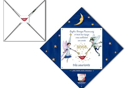 """Carte de vœux pour des orthodontistes """"Les magiciens"""""""