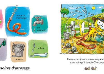 "L'imagier du jardin ""l'arrosage"""