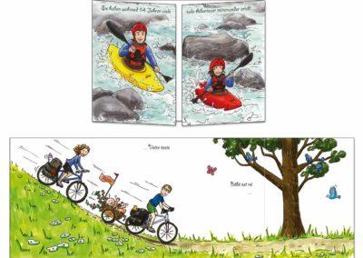 """Faire-part naissance """"Les kayaks"""""""