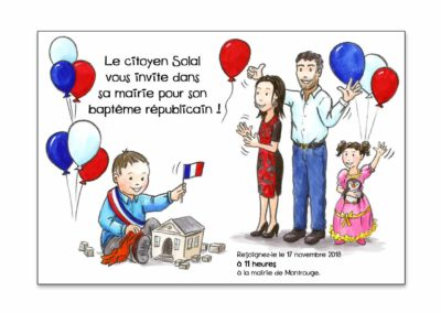 Invitation Baptême républicain