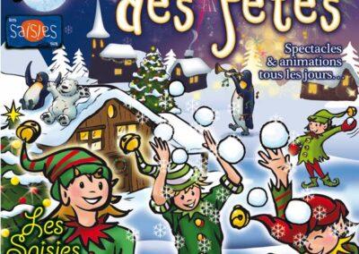 Affiche crée en 2018 pour la semaine de Noël à la station de ski Les Saisies en Saivoie