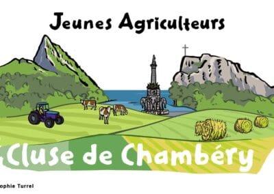 création du logo pour les Jeunes Agriculteurs Cluse de Chambéry