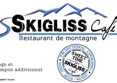 création du logo pour un bar restaurant de montagne, sur les pistes de ski